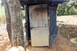 The Water Project: Shitirira Community, Peninah Spring -  A Latrine