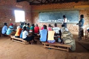 The Water Project: Pakanyi Gwoki Community -  Sanitation Ladder Discussion