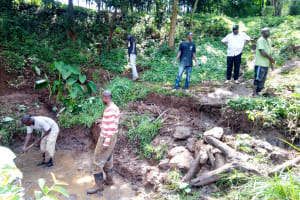 The Water Project: Irumbi Community, Okang'a Spring -  Excavation