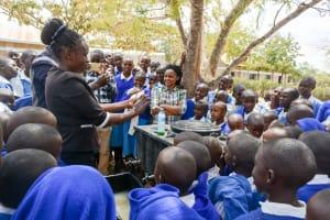 The Water Project: Kyamatula Primary School -  Handwashing Training