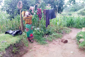 The Water Project: Bukhanga Community, Indangasi Spring -  Clothesline
