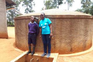The Water Project: Shipala Primary School -  Travilian Muyega And Edwin Amuhaya