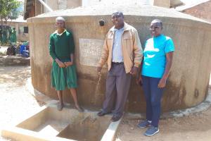 The Water Project: Mahanga Primary School -  Albert Anjiji And Ruth Ambia