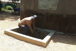 The Water Project: Mahanga Primary School -  Headteacher At The Tank