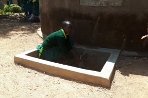 The Water Project: Mahanga Primary School -  Ruth Ambia At The Water Tank