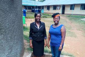 The Water Project: Matende Girls High School -  Deputy Head Gaudencia Takaundo With Wewasafo Staff Jacky Chelagat