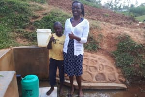 The Water Project: Shitaho Community B, Isaac Spring -  Alvin Shikachi