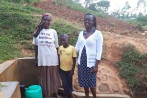 The Water Project: Shitaho Community B, Isaac Spring -  Phanice Isaac And Alvin Shiakachi