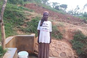 The Water Project: Shitaho Community B, Isaac Spring -  Phanice Isaac