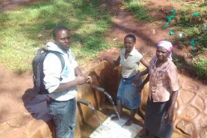 The Water Project: Visiru Community, Kitinga Spring -  Irene Jepnyango And Florence Makungu
