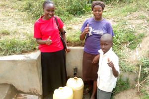 The Water Project: Emakaka Community -  Thumbs Up For Water