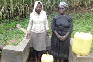 The Water Project: Murumba Community, Muyokani Spring -  Sophia Amurale And Margaret Atieno