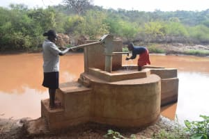 The Water Project: Maluvyu Community A -  Water Flowing