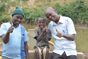 The Water Project: Kaani Community B -  Thumbs Up For Reliable Water