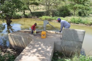 The Water Project: Ilinge Community A -  Fetching Water