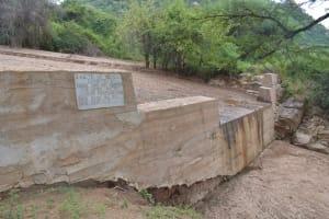 The Water Project: Nzung'u Community B -  Mature Sand Dam