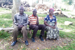 The Water Project: Luyeshe Community, Matolo Spring -  Mrs And Mr Matolo With Elder Family Member