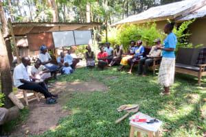 The Water Project: Muyundi Community, Ngalame Spring -  Training