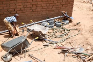 The Water Project: Mbuuni Community E -  Well Construction Materials