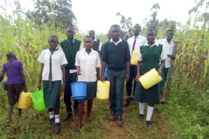 The Water Project: Kwirenyi Secondary School -  Walking To The River