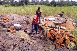 The Water Project: Chebwayi B Community, Wambutsi Spring -  Construction
