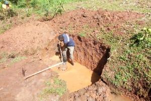 The Water Project: Musutsu Community, Mwashi Spring -  Spring Excavation