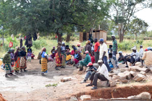The Water Project: Muunguu Primary School -  Parents Making A Plan To Help Our Artisans