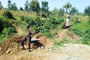 The Water Project: Handidi Community, Chisembe Spring -  Delivering Materials To The Artisan
