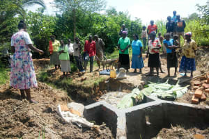 The Water Project: Luvambo Community, Timona Spring -  Spring Care Training