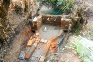 The Water Project: Matsakha Community, Siseche Spring -  Spring Construction