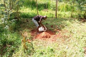 The Water Project: Musutsu Community, Mwashi Spring -  Preparing To Mix Cement