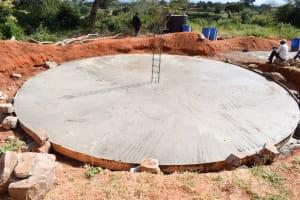 The Water Project: Muunguu Primary School -  Tank Foundation