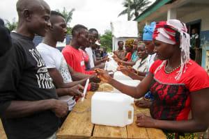 The Water Project: Mabendo Community -  Making Handwashing Stations