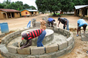 The Water Project: Mabendo Community -  Bricking The Well