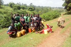 The Water Project: Kwirenyi Secondary School -  Boarding Students Fetching Water On The Weekend