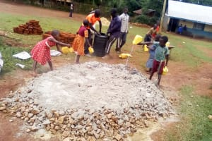 The Water Project: Eshilibo Primary School -  Tank Construction