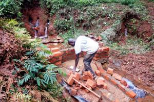 The Water Project: Shirakala Community, Ambani Spring -  Construction