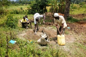 The Water Project: Matsakha Community, Siseche Spring -  Mixing Cement