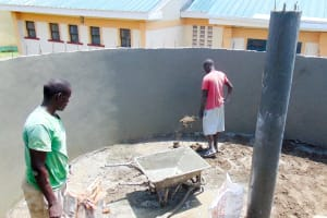 The Water Project: ACK Milimani Girls' Secondary School -  Tank Construction