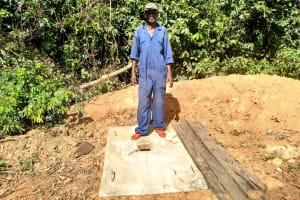 The Water Project: Ematetie Community, Weku Spring -  Sanitation Platform