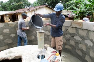 The Water Project: Mabendo Community -  Pump Installation