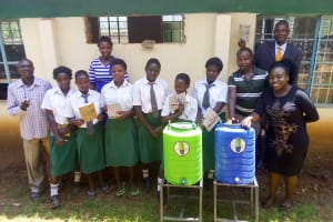 The Water Project: ACK Milimani Girls' Secondary School -  Handwashing Stations