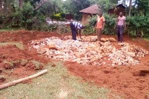 The Water Project: Eshilibo Primary School -  Tank Foundation