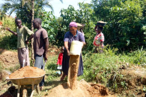 The Water Project: Luvambo Community, Timona Spring -  Delivering Sand