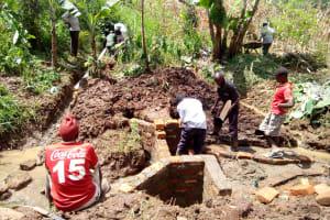 The Water Project: Irumbi Community, Shatsala Spring -  Spring Construction