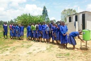 The Water Project: Makuchi Primary School -  Handwashing Station
