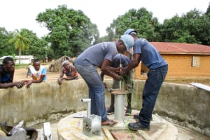 The Water Project: Mabendo Community, Mosque -  Pump Installation