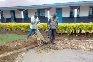 The Water Project: Imusutsu High School -  Tank Foundation Construction