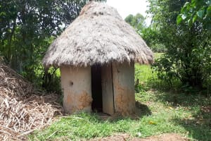 The Water Project: Luyeshe Community, Matolo Spring -  A Latrine