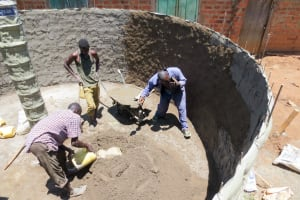 The Water Project: Jidereri Primary School -  Tank Foundation